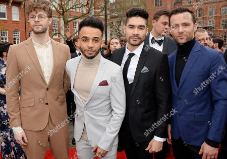 Jay McGuiness, Aston Merrygold, Louis Smith and Harry Judd