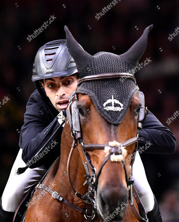 Egypt´s Abdel Said rides Jumpy van de Hermitage during the FEI World Cup final 3 show jumping event at Gothenburg Horse Show in the Scandinavium Arena in Gothenburg, Sweden, 07 April 2019.