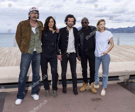 Philippe Rebbot, Cathy Verney, Romain Duris, Athaya Mokonzi and Celine Sallette