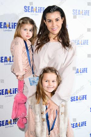 Imogen Thomas and daughters Ariana Siena Horsley, Siera Aleira Horsley