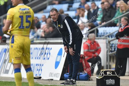 Bristol Rovers manager Graham Coughlan during the EFL Sky Bet League 1 match between Coventry City and Bristol Rovers at the Ricoh Arena, Coventry