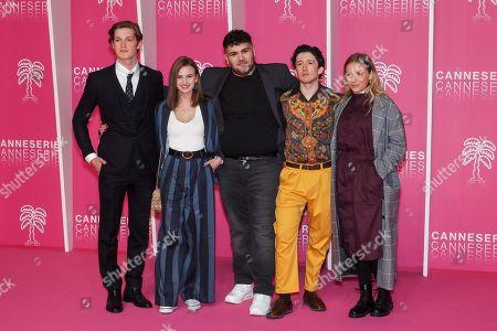 Stock Photo of Damian Hardung, Leonie Wesselow, Danilio Kamperidis, Maximilian Mundt and Lena Klenke