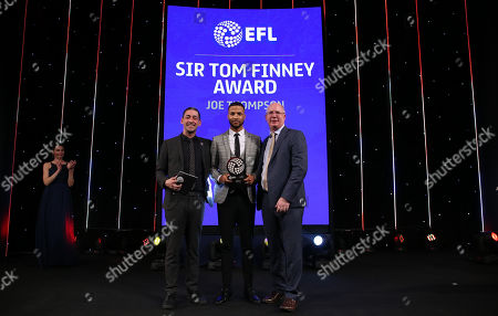 EFL Awards 2019 - EFL CEO Shuan Harvey and Colin Murray present the Sir Tom Finney Award to Joe Thompson