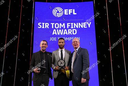 EFL Awards 2019 - EFL CEO Shuan Harvey and Colin Murray present the Sir Tom Finney Award to Joe Thompson