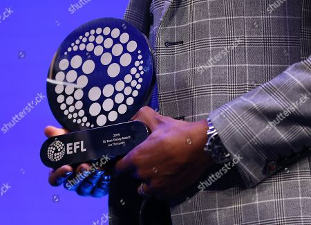 EFL Awards 2019 - Joe Thompson holds the Sir Tom Finney Award