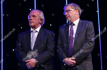 EFL Awards 2019 - Gordon Taylor and MIND CEO Paul Farmer on stage