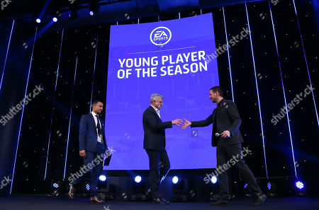 EFL Awards 2019 - Colin Murray shakes hands with Adrian Chiles