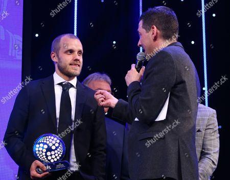 EFL Awards 2019 - Colin Murray talks with Teemu Pukki of Norwich City
