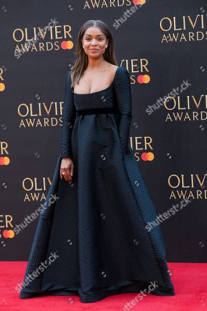 Antonia Thomas arrives at the Olivier Awards at the Royal Albert Hall in London, Britain, 07 April 2019.The Olivier Awards are awarded for outstanding achievements in British theatre.