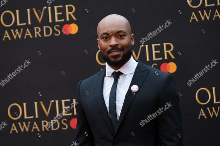Arinze Kene arrives at the Olivier Awards at the Royal Albert Hall in London, Britain, 07 April 2019. The Olivier Awards are awarded for outstanding achievements in British theatre.