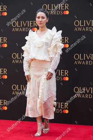 Eleanor Matsuura arrives at the Olivier Awards at the Royal Albert Hall in London, Britain, 07 April 2019. The Olivier Awards are awarded for outstanding achievements in British theatre.
