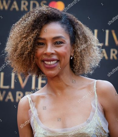 Sophie Okonedo arrives at the Olivier Awards at the Royal Albert Hall in London, Britain, 07 April 2019. The Olivier Awards are awarded for outstanding achievements in British theatre.
