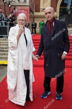 Vanessa Redgrave, Martin Sherman. Vanessa Redgrave and Martin Sherman pose for photographers upon arrival at the Olivier Awards in London