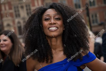 Beverly Knight poses for photographers upon arrival at the Olivier Awards in London