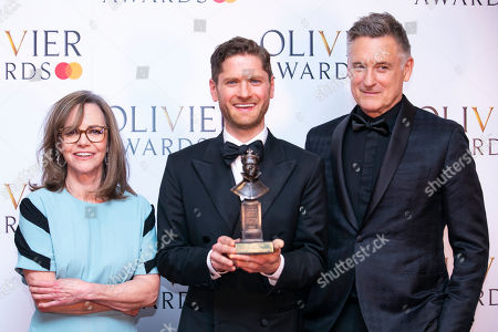 Kyle Soller accepts the award for Best Actor for The Inheritance, presented by Sally Field and Bill Pullman