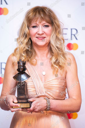 Sonia Friedman accepts the award for Best Revival for Summer and Smoke
