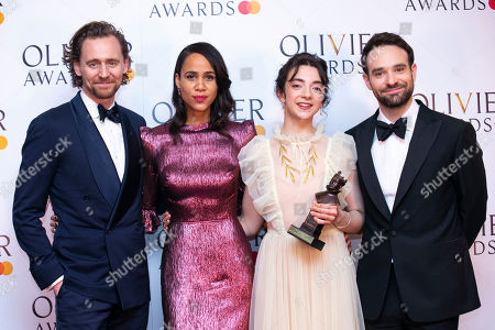 Patsy Ferran accepts the award for Best Actress for Summer and Smoke, presented by Tom Hiddleston, Zawe Ashton and Charlie Cox