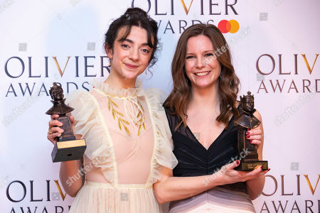 Patsy Ferran accepts the award for Best Actress and Rebecca Frecknall accepts the award for Best Revival for Summer and Smoke