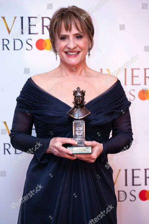 Patti Lupone accepts the award for Best Actress in a Supporting Role in a Musical for Company