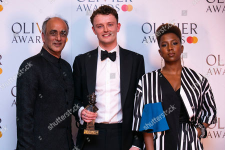 Chris Walley accepts the award for Best Actor in a Supporting Role for The Lieutenant Of Inishmore, presented by Art Malik and Jade Anouka