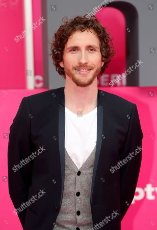 Stock Image of Baptiste Lecaplain poses on the pink carpet during the Cannes Series Festival in Cannes, 07 April 2019. The event will take place from 05 to 10 April.