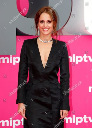 Cast member of 'Instinto', Spanish actress Silvia Alonso poses on the pink carpet during the Cannes Series Festival in Cannes, 07 April 2019. The event will take place from 05 to 10 April.