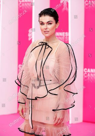 Stock Photo of Serinda Swan poses on the pink carpet during the Cannes Series Festival in Cannes, 07 April 2019. The event will take place from 05 to 10 April.