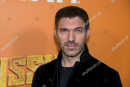 """Travis Knight attends the premiere of """"Missing Link"""" at Regal Cinemas Battery Park, in New York"""