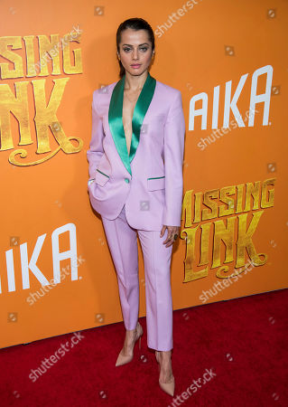 "Amrita Acharia attends the premiere of ""Missing Link"" at Regal Cinemas Battery Park, in New York"