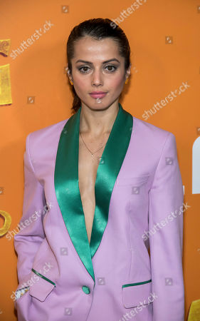 "Stock Photo of Amrita Acharia attends the premiere of ""Missing Link"" at Regal Cinemas Battery Park, in New York"
