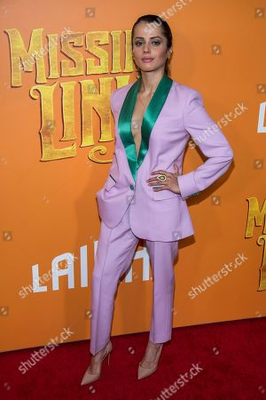 "Stock Picture of Amrita Acharia attends the premiere of ""Missing Link"" at Regal Cinemas Battery Park, in New York"