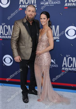 Stock Picture of Brantley Gilbert and Amber Cochran