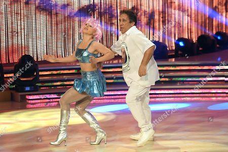 Angelo Russo and Anastasia Kuzmina