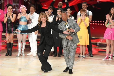 Milly Carlucci and Paolo Belli