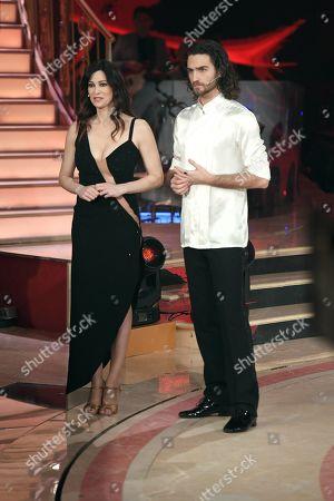 Manuela Arcuri and Luca Favilla