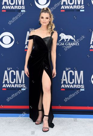 Andrea Boehlke arrives at the 54th annual Academy of Country Music Awards at the MGM Grand Garden Arena, in Las Vegas