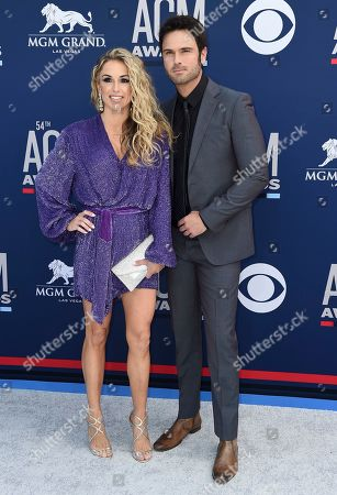 Chuck Wicks, Kasi Williams. Chuck Wicks, right, and Kasi Williams arrive at the 54th annual Academy of Country Music Awards at the MGM Grand Garden Arena, in Las Vegas