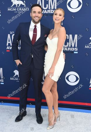 Tyler Rich, Sabina Gadecki. Tyler Rich, left, and Sabina Gadecki arrive at the 54th annual Academy of Country Music Awards at the MGM Grand Garden Arena, in Las Vegas