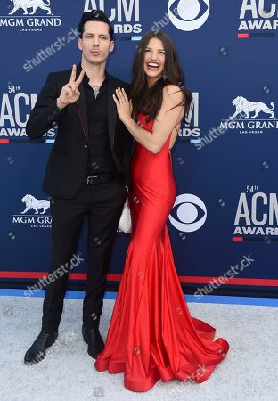 Devin Dawson, Leah Sykes. Devin Dawson, left, and Leah Sykes arrive at the 54th annual Academy of Country Music Awards at the MGM Grand Garden Arena, in Las Vegas