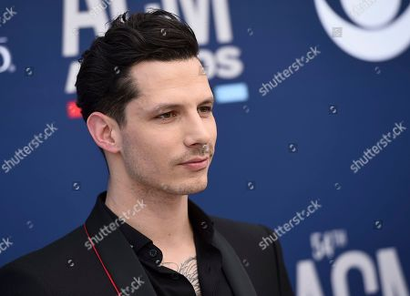Devin Dawson arrives at the 54th annual Academy of Country Music Awards at the MGM Grand Garden Arena, in Las Vegas