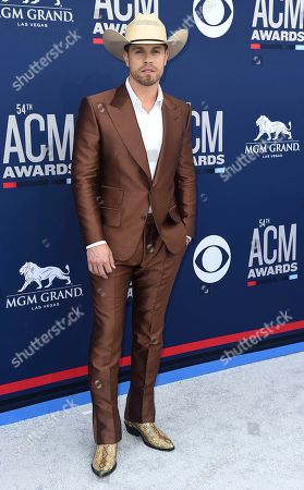 Dustin Lynch arrives at the 54th annual Academy of Country Music Awards at the MGM Grand Garden Arena, in Las Vegas