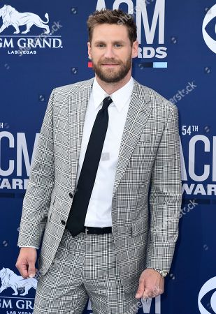 Chase Rice arrives at the 54th annual Academy of Country Music Awards at the MGM Grand Garden Arena, in Las Vegas