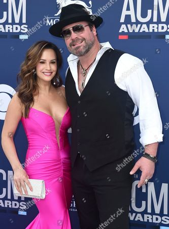 Lee Brice, Sara Reeveley. Lee Brice, right, and Sara Reeveley arrive at the 54th annual Academy of Country Music Awards at the MGM Grand Garden Arena, in Las Vegas