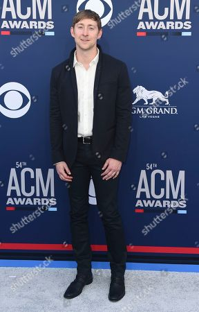 Ashley Gorley arrives at the 54th annual Academy of Country Music Awards at the MGM Grand Garden Arena, in Las Vegas