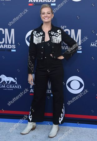 Beth Behrs arrives at the 54th annual Academy of Country Music Awards at the MGM Grand Garden Arena, in Las Vegas