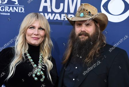 Chris Stapleton, Morgane Stapleton. Chris Stapleton, right, and Morgane Stapleton arrive at the 54th annual Academy of Country Music Awards at the MGM Grand Garden Arena, in Las Vegas