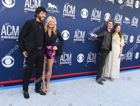 Chris Janson, Kelly Lynn, Ross Copperman, Katlin Copperman. Chris Janson, from left, Kelly Lynn, Ross Copperman and Katlin Copperman arrive at the 54th annual Academy of Country Music Awards at the MGM Grand Garden Arena, in Las Vegas