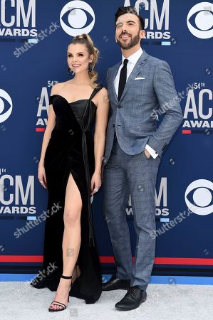 Andrea Boehlke, Jeremy Parsons. Andrea Boehlke, left, and Jeremy Parsons arrive at the 54th annual Academy of Country Music Awards at the MGM Grand Garden Arena, in Las Vegas