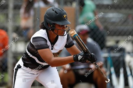 Grambling infielder Tyler Robinson (23) at bat during an Grambling State University at Texas Southern University NCAA softball game on in Houston