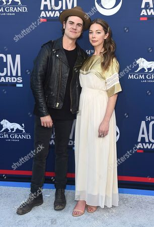 Ross Copperman, Katlin Copperman. Ross Copperman, left, and Katlin Copperman arrive at the 54th annual Academy of Country Music Awards at the MGM Grand Garden Arena, in Las Vegas